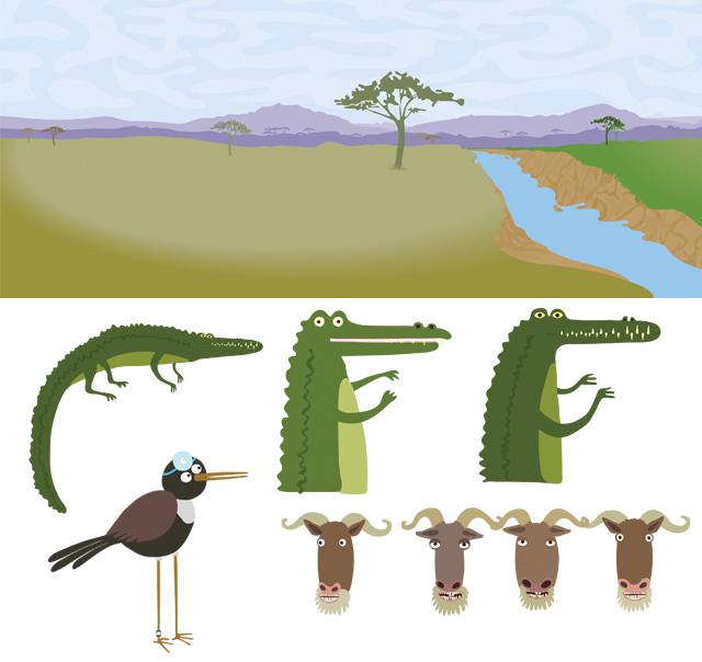 Crocodile character development