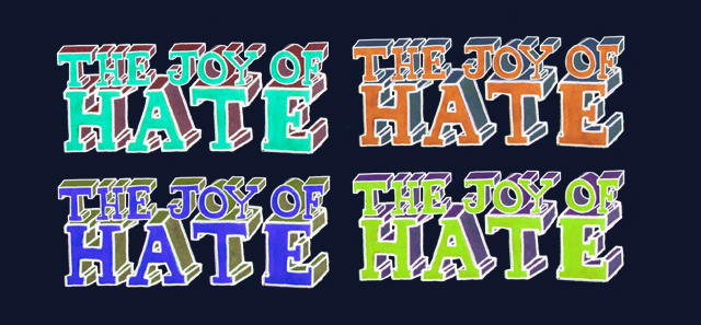 The joy of Hate lettering claire murray