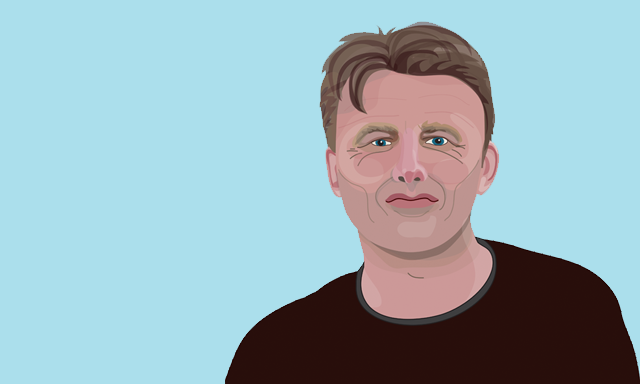chris Packham Springwatch portrait illustration