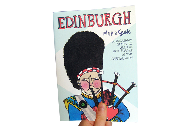 Edinburgh Map and Guide claire murray