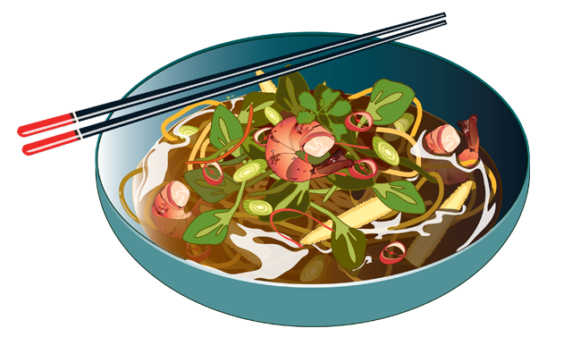 noodle soup illustrator adobe claire murray