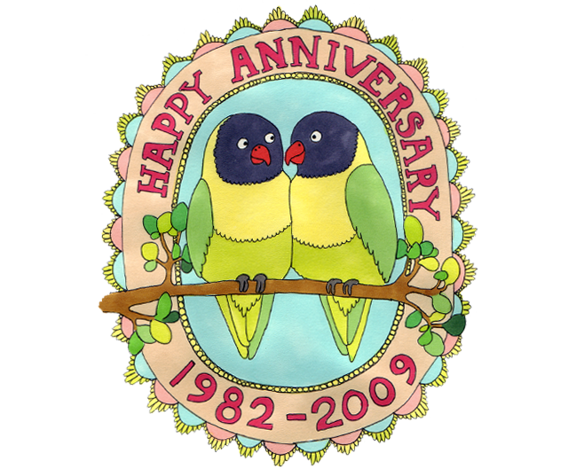 anniversary card claire murray illustrator