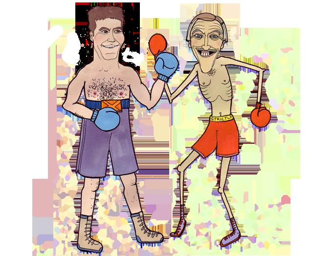 Simon vs Bruce Claire Murray illustration